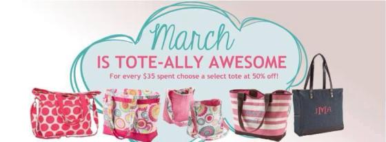 march tote banner